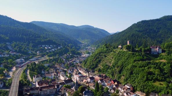 Hornberg von oben