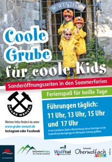 Coole Grube für coole Kids - Führungen durch das Besucherbergwerk Grube Wenzel in Oberwolfach