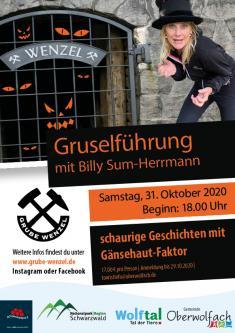 ABGESAGT - Gruselführung durch die Grube Wenzel mit Billy Sum-Herrmann