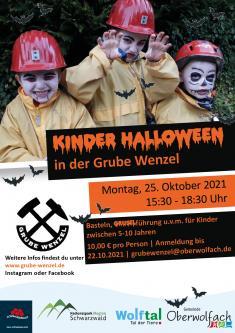 Kinder Halloween in der Grube Wenzel