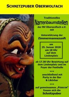 Narrenbaumstellen der Narrenvereinigung Oberwolfach