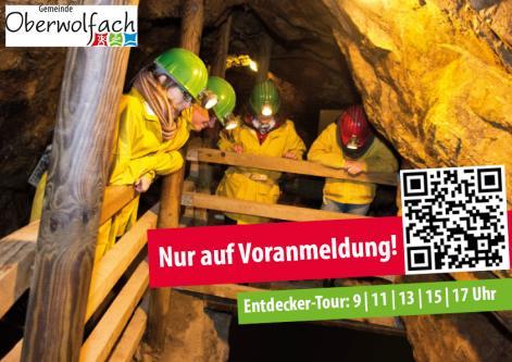 VORANMELDUNG | Führungen durch das Besucherbergwerk Grube Wenzel in Oberwolfach