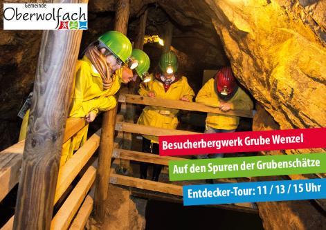 Führungen durch das Besucherbergwerk Grube Wenzel in Oberwolfach