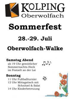 Sommerfest - Kolpingfamilie und Kirchenchor Oberwolfach